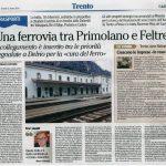 Finaziamenti per la Trento-Penia e Ferrovie del Trentino