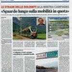 Sguardo lungo sulla mobilità nele Dolomiti