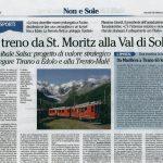 il treno da st.moriz alla valle di non